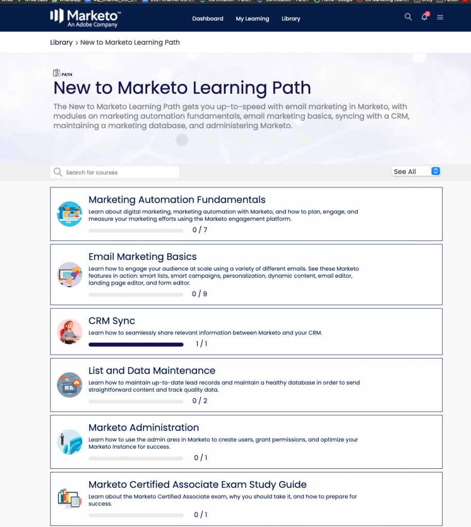 Marketo Learning Platform