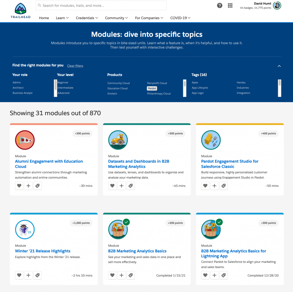 Pardot Learning Platform